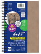 Pacon Art1st Create Your Own Cover Sketch Diary, Natural Chip, 23cm x 15cm , 50 Sheets