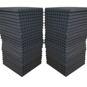 """48 Pack - Acoustic Panels Studio Soundproofing Foam Wedge tiles 2.5cm x 30cm x 12"""" 100% Made in USA"""