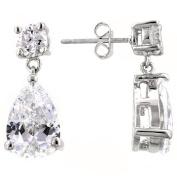 Kate Bissett E20112R-C01 Elegant CZ Drop Earrings