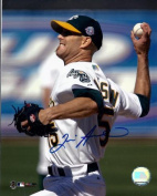Tim Hudson Autographed Oakland AS 8X10 Photo