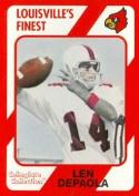 Autograph Warehouse 101719 Len Depaola Football Card Louisville 1989 Collegiate Collection No. 176