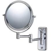 Jerdon Style JP7508C 15cm . 5X-1X Wall Mount Mirror Double Arm Chrome