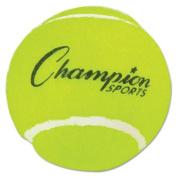 Champion Sport TB3 Tennis Balls 2 1/2 Diameter Rubber Yellow 3/Pack