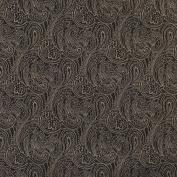 Designer Fabrics B633 140cm . Wide Black Traditional Paisley Jacquard Woven Upholstery Fabric