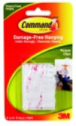 Command Damage-Free Picture Hanging Clip With 8 Adhesive Strip Pack - 6