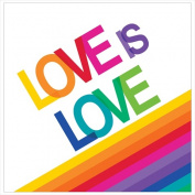 Creative Converting 661972 Rainbow - Lunch Napkins Love is Love - Case of 192