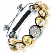 Best Desu 17078 Shambala-Style Crystal Bracelet Light Topaz