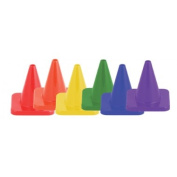OlympiaSports CO050P Hi Visibility Flexible Vinyl Cone Sets - 10cm . Set of 6