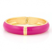 C Jewellery Gold-Tone Fuchsia Hinged Bracelets