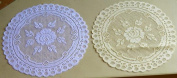 Tapestry Trading 652I12 30cm . European Lace Doily Ivory