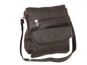 Leather In Chicago 3027-BRN Cowhide Leather Sidebag Brown