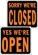 Hy-ko SP-113 38cm . X 48cm . Plastic Open-Closed Sign - Pack of 5