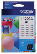 for Brother International LC203C High Yield Cyan Ink Cartridge