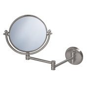 Gatco 1408 Wall Mount Mirror with 36cm Swing Arm Extents, Satin Nickel