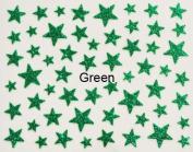 Nail Art 3d Glitter Stickers - Stars