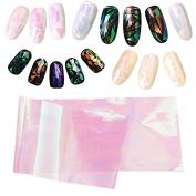 Pauler Vickers 5 Colours Newest Broken Glass Foils Finger DIY Nail Art Stencil Decal Stickers