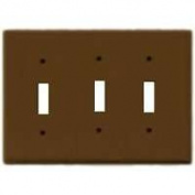 Cooper Wiring 2141B-BOX 3 - Gang Standard Switch Plate Brown