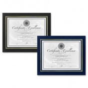 Dax DAXN3191NB Leatherette Certificate Frame 28cm . x 22cm . Blue