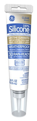 Momentive Perform Material GE500 80ml 100 Percent Silicone Window & Door Caulk Clear