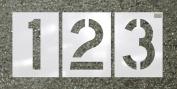 CH Hanson 70394 Number Kit 18 Pieces 60cm X 23cm . Highway Stencil