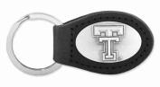 ZeppelinProducts TXT-KL6-BLK Texas Tech Leather Key Fob Black