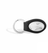ZeppelinProducts GAS-KL6-BLK Georgia Southern Leather Key Fob Black