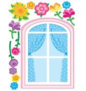 Wallies 13522 Pretty Window Big Wall Sticker