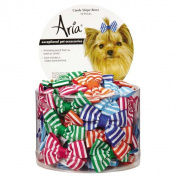 Aria North DT7510 50 Candy Stripe Bow Canister 50Pc