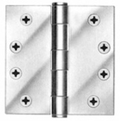 Tell Manufacturing HG100002 11cm . Plain Bearing Hinge Satin Chrome Finish Pack 3