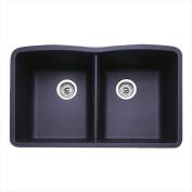 Blanco 440184 Diamond Equal Double Bowl Silgranit II Undermount Kitchen Sink - Anthracite