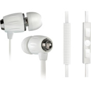 Bello Digital BDH654WH In-Ear Stereo Headphones With Apple Remote - White