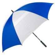 FJWestcott 8308T Wind-Vented Telescoping Golf Umbrella - Royal and White