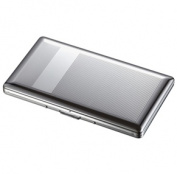 Visol VCM502 Chase Chrome 120s Cigarette Case - Holds 9 120 size cigarettes