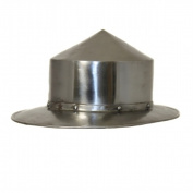EcWorld Enterprises 8880625 Antique Replica Mediaeval Infantry Steel Pointed Kettle Hat Helmet