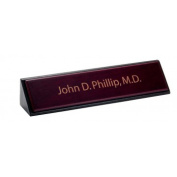 Dacasso a8046 Leather Name Plate - Rosewood
