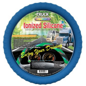 Cameleon Cover 153 NAVY TRUCK ionised New Silicone Semi-Truck Navy Steering Wheel Cover With Negative Ion Fits