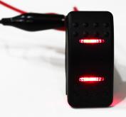 Bandc 7 Pins 2 LED Light On-off-on Marine Boat Rocker Switch Dpdt Waterproof 12v 24v