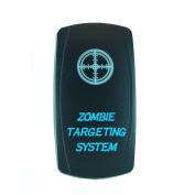 Laser Backlit Blue Rocker Switch ZOMBIE TARGETING SYSTEM 20A 12V On/off LED Light