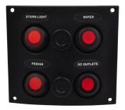 SeaSense Waterproof 4 Gang Toggle Switch Panel