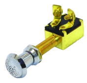 Invincible Marine 2-Position Push/Pull Switch, Brass