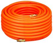Amflo 576-100A Orange 300 PSI PVC Air Hose 1cm x 30m With 0.6cm MNPT End Fittings
