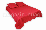 Quilted Bedspread, Single Red + 1 Flora Cushion Cover