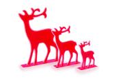 Decoration Elk Red (set of 3)
