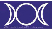AzureGreen EBTRIM Triple Moon Bumper Sticker