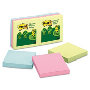 3M R330RP6AP Recycled Pop-Up Notes Refill 3 x 3 Sunwashed Pier 6 100-Sheet Pads