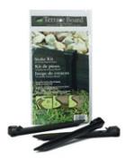Master Mark Plastics 99402 25cm . Black Terrace Board Stake Kit 10 Pack