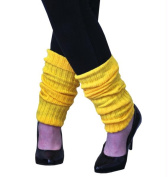 Costumes for all Occasions AA105 Leg Warmers Adult Neon Yellow