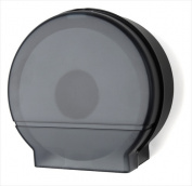E-Z Taping System RD0026-02 23cm . Single Jumbo Roll Bath Tissue Dispenser in Black Translucent