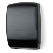 E-Z Taping System TD0179-02 Plastic Multifold Towel Dispenser in Black Translucent