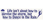 AzureGreen EBLIFD Life Isnt About How to Survive The Storm But How to Dance Bumper Sticker